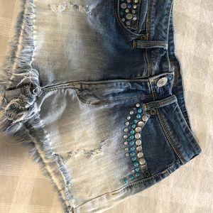 Ombré jean shorts